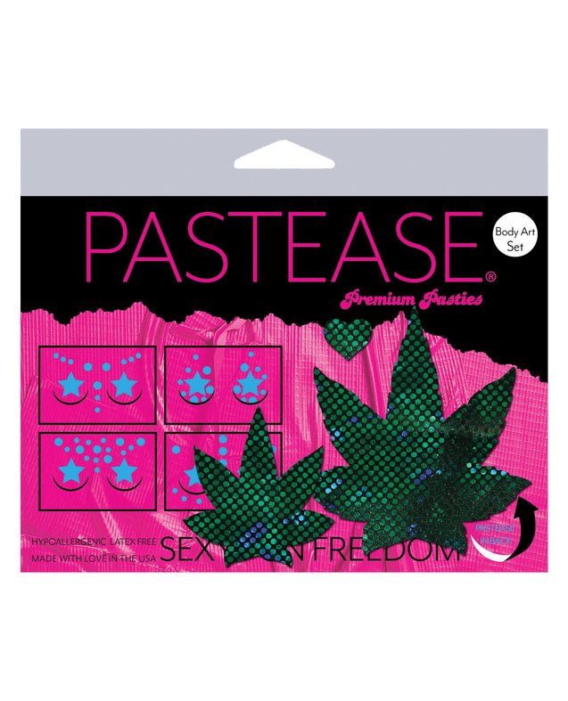 Pastease Body Set Disco Leaf - Grean O/S