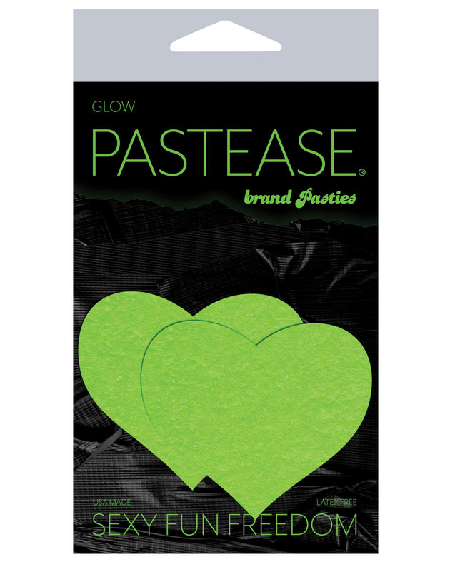 Pastease Heart - Glow in the Dark Green O/S