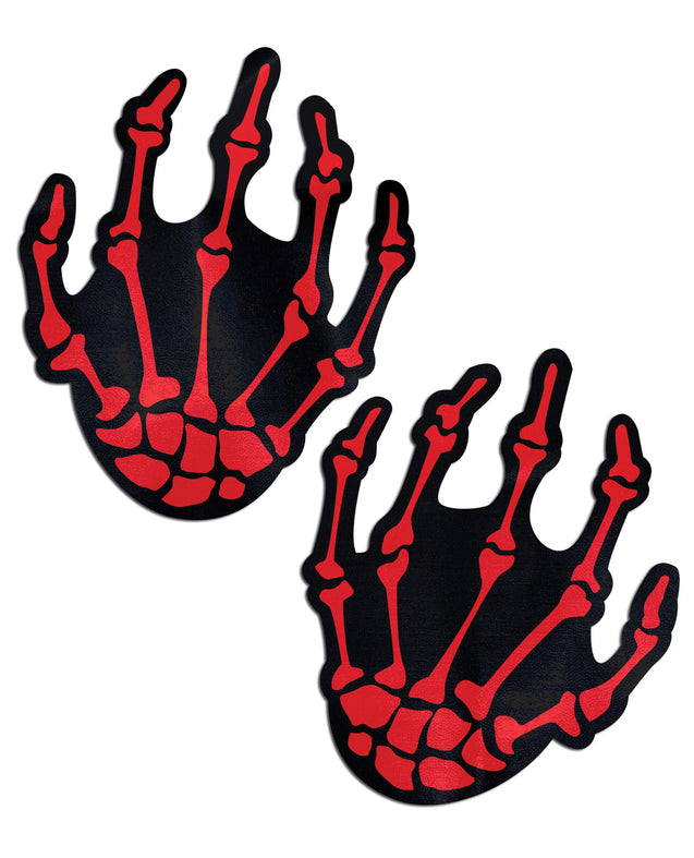 Pastease Skeleton Hands - Red O/S