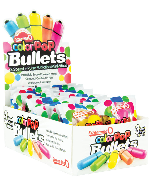 Screaming O Color Pop Bullet Display - Box of 20