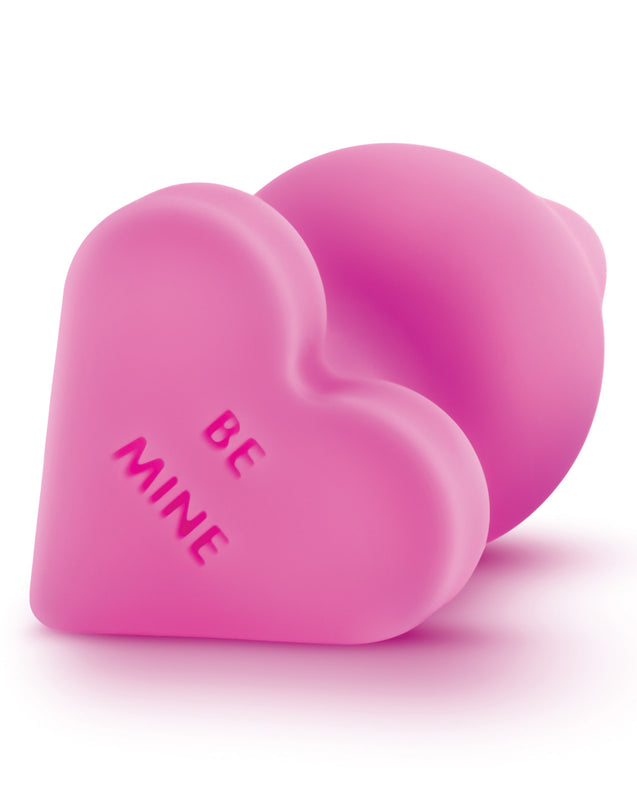 Blush Play with Me Naughty Candy Heart Be Mine Plug - Pink