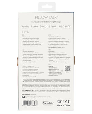 Pillow Talk Sultry Rotating Wand - Pink