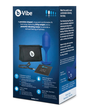 b-Vibe Vibrating Weighted Snug Plug XL - 247 g Navy