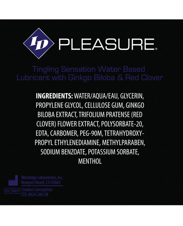ID Pleasure Waterbased Tingling Lubricant - 8.5 oz Flip Cap Bottle