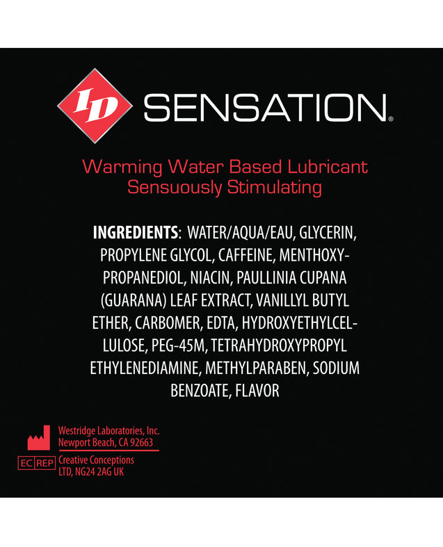 ID Sensation Waterbased Warming Lubricant - 1 oz Pocket Bottle