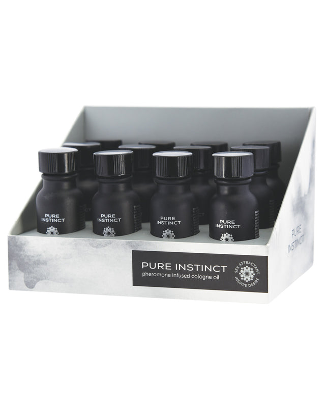 Pure Instinct Pheromone Cologne Oil for Him Display - 15 ml Display of 12