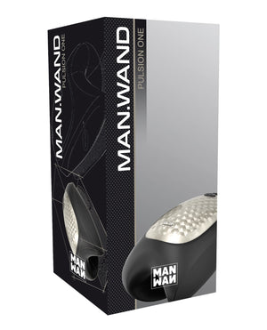 Man Wand Heat and Vibration Pulsion - Black