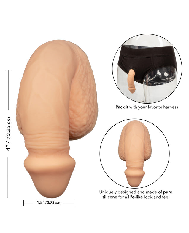 "Packer Gear 4"" Silicone Packing Penis - Ivory"