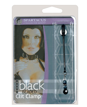 Spartacus Black Beaded Clit Clamps