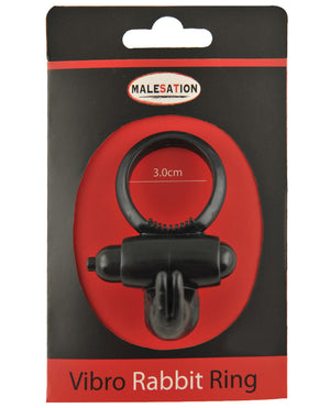 Malesation Vibro Rabbit Ring - Black