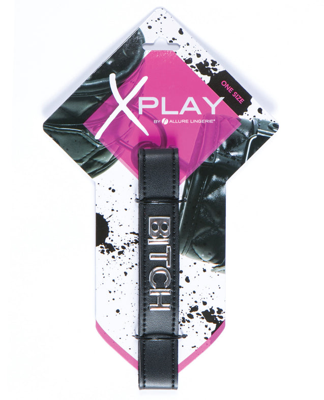 XPlay Talk Dirty to Me Collar - Bitch