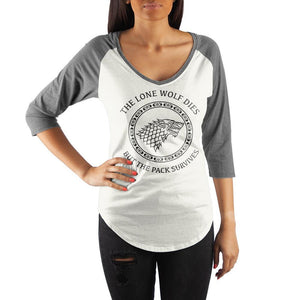 House Stark Crew Neck Raglan T Shirt
