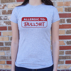 Allergic To Bullshit T-Shirt (Ladies)