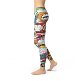 Womens Comic Book Leggings