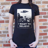 I Want To Believe T-Shirt (Ladies)