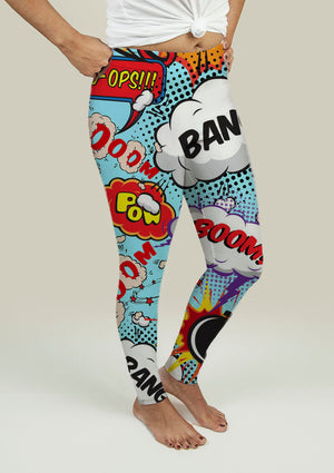 Leggings with Comic Speech Bubbles