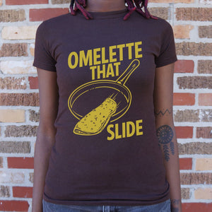 Omelette That Slide T-Shirt (Ladies)