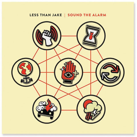 Less Than Jake - Sound The Alarm (Limited Edition Vinyl Bundle with Alternate Screenprint Cover, Enamel Pins, Slipmat x/100) - Rare Limiteds