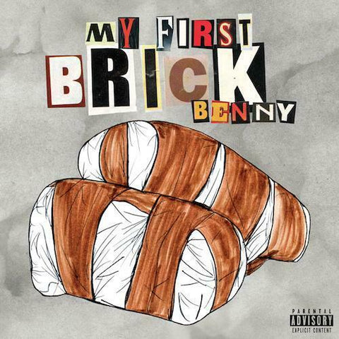 Benny The Butcher - My First Brick (Limited Edition White / Brown Striped Vinyl LP x/100)