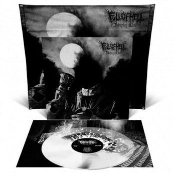 Full Of Hell - Weeping Choir (Deluxe Edition Black Inside Clear / White Split w/ Splatter Vinyl LP + Flag x/100) - Rare Limiteds