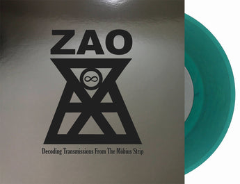 "Zao - Decoding Transmissions From The Mobius Strip (Limited Edition Transparent Peacock Ore 7"" Vinyl x/450)"