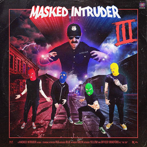 Masked Intruder - III (UK Indie Retail Exclusive Tri-Color Striped Vinyl LP x/200) - Rare Limiteds
