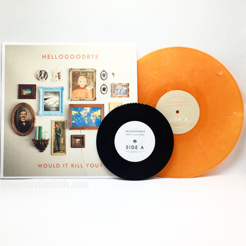 "Hellogoodbye - Would It Kill You? (Limited Edition Orange Marble Vinyl LP + Exclusive 7"" Vinyl)"