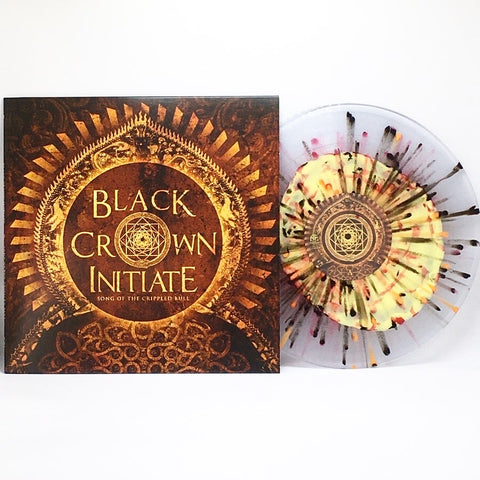 "Black Crown Initiate - Song Of The Crippled Bull (Limited ""Crippled Bull"" Edition Yellow Inside Clear w/ Black, Red & Orange Splatter 12"" Vinyl EP x/125)"