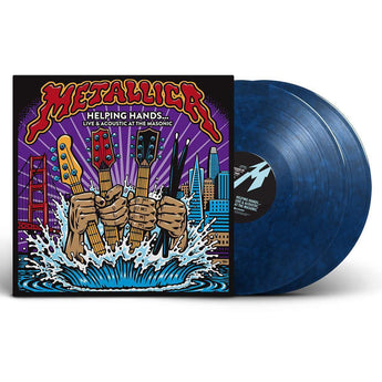 Metallica - Helping Hands... Live & Acoustic At The Masonic (Limited Edition Blue Marble Vinyl 2xLP) - Rare Limiteds
