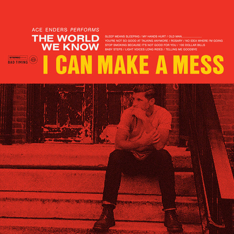 I Can Make A Mess Like Nobody's Business ‎- The World We Know (Limited Edition White w/ Red Splatter Vinyl LP x/500)