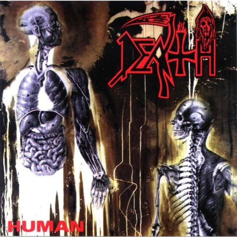 Death - Human (Limited Edition Clear with Blood Red / Bronze / Aqua Blue Splatter Vinyl LP x/300 + Digital Download) - Rare Limiteds
