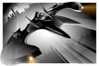 Craig Drake - Batwing (Limited Edition Screenprinted Poster x/275) - Rare Limiteds