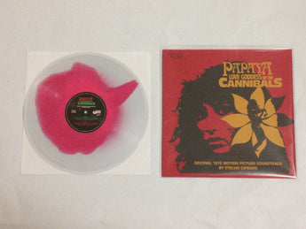 Stelvio Cipriani - Papaya Love Goddess of the Cannibals [Soundtrack] (Limited Edition Clear / Pink Haze Vinyl LP x/60 w/ Red Screenprint Sleeve x/120) - Rare Limiteds
