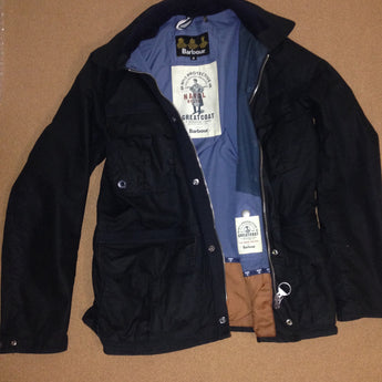 Barbour Blue Wax Jacket (Greatcoat: The Naval Belter) - Rare Limiteds