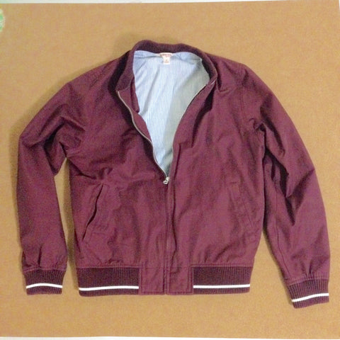 Maroon Baseball Jacket w/ Seersucker Interior (Red Fleece Collection)