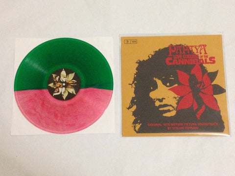 Stelvio Cipriani - Papaya Love Goddess of the Cannibals [Soundtrack] (Limited Edition Green / Pink Split Vinyl LP x/60 w/ Yellow Screenprint Sleeve x/120) - Rare Limiteds