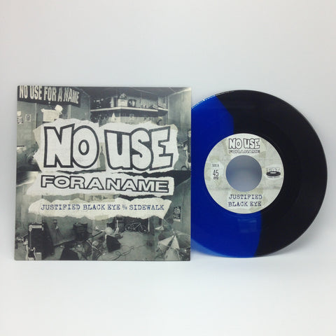 "No Use For A Name - Justified Black Eye B/W Sidewalk (Limited Edition Blue / Black Split 7"" Vinyl) - Rare Limiteds"