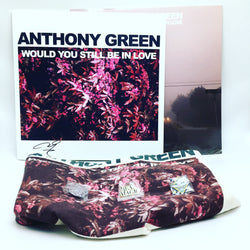 Anthony Green - Would You Still Be In Love (Deluxe Edition Clear w/ Pink Haze Vinyl LP + Autographed Cover Art Bundle x/100) - Rare Limiteds