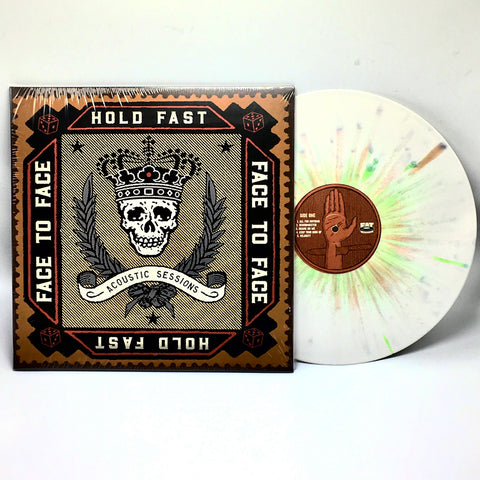 Face To Face - Hold Fast: Acoustic Sessions (Fat Wreck Exclusive Bone w/ Green & Brown Splatter Vinyl LP) - Rare Limiteds