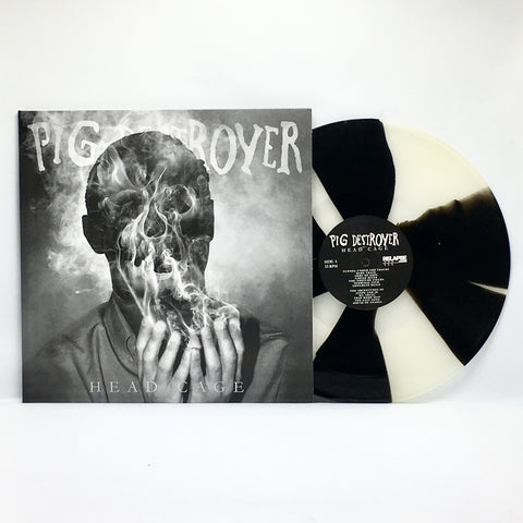Pig Destroyer - Head Cage (Limited Edition Milky Clear w/ Black Pinwheels Vinyl LP x/100) - Rare Limiteds
