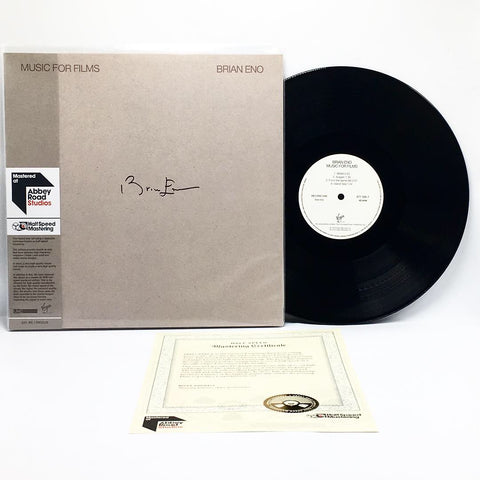 Brian Eno - Music For Films (Abbey Road Half-Speed Mastered 180-GM Vinyl 2xLP - Autographed Sleeve) - Rare Limiteds