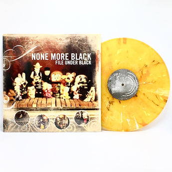 None More Black - File Under Black (Limited Edition Orange Marble Vinyl LP)