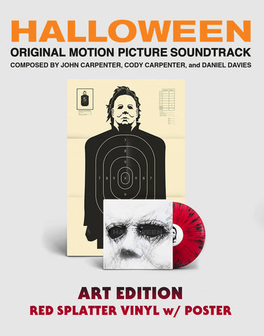 John Carpenter - Halloween 2018 [Soundtrack] (Art Edition Red w/ Black Splatter Vinyl LP x/500 + Poster) - Rare Limiteds