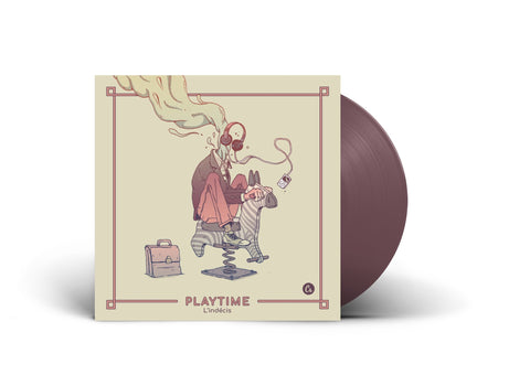 "L'Indecis - Playtime EP (Limited Edition Brown 12"" Vinyl EP x/500 - Non-Numbered Copy)"