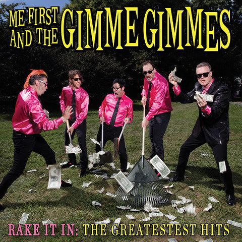 Me First And The Gimme Gimmes - Rake It In: The Greatestest Hits (Limited Edition Pink / Yellow Split Vinyl LP) - Rare Limiteds