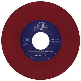 "James Hunter Six - I Don't Wanna Be With You (Daptone Exclusive Blood Red 7"" Single) - Rare Limiteds"