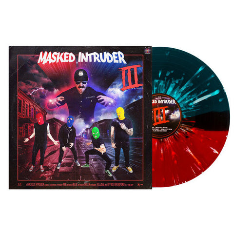 Masked Intruder - III (PN Webstore Exclusive Blood Red / Sea Blue Split w/ Heavy White Splatter Vinyl LP x/300)