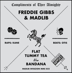 "Freddie Gibbs & Madlib - Flat Tummy Tea (Limited Edition Number-Stamped White Sleeve 12"" Vinyl x/500) - Rare Limiteds"