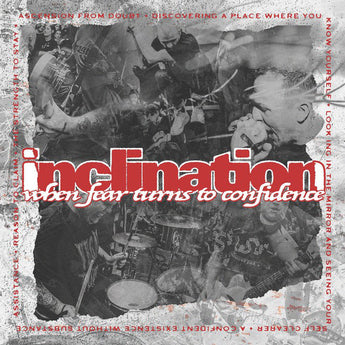 "Inclination - When Fear Turns To Confidence (Purenoise Exclusive White & Red w/ Black & Silver Splatter 12"" Vinyl EP x/200) - Rare Limiteds"