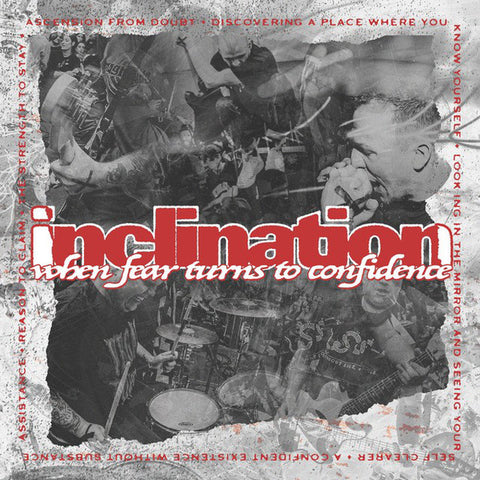 "Inclination - When Fear Turns To Confidence (Purenoise Exclusive White & Red w/ Black & Silver Splatter 12"" Vinyl EP x/200)"